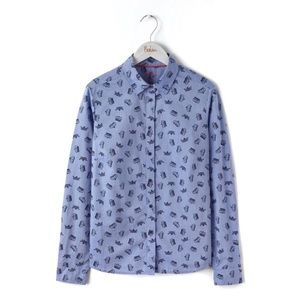 "BODEN Navy Crown Print ""Classic Shirt"""